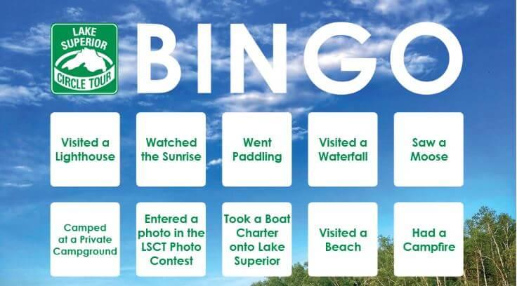 Lake Superior Circle Tour Bingo Teaser Image